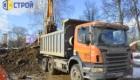 Вывоз грунта с строительства путепровода в г. Долгопрудный.