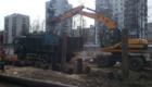 Вывоз грунта и строительного мусора  с места демонтированного здания.