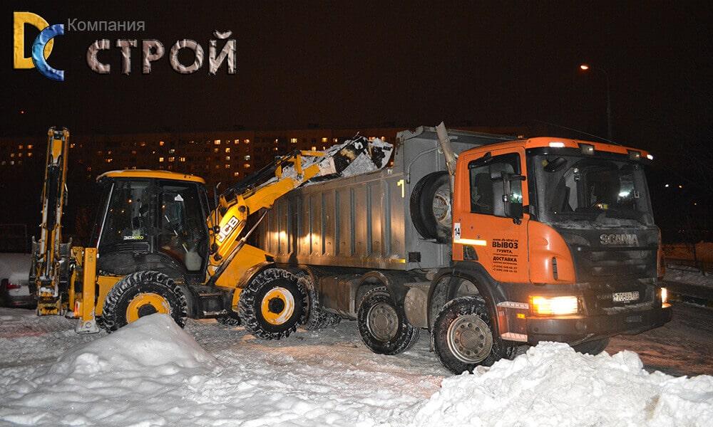 Погрузка и вывоз снега