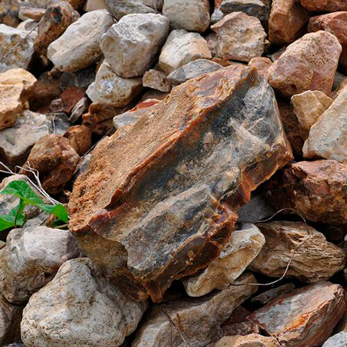 Замусоренный грунт камнями