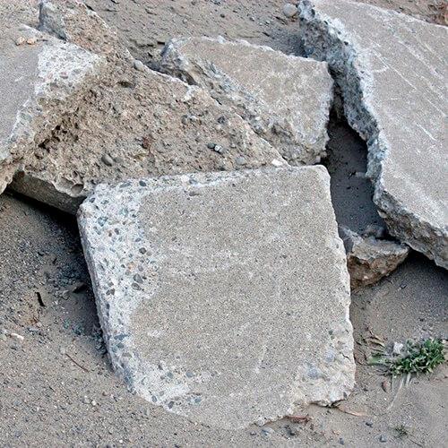 Куски-бетона