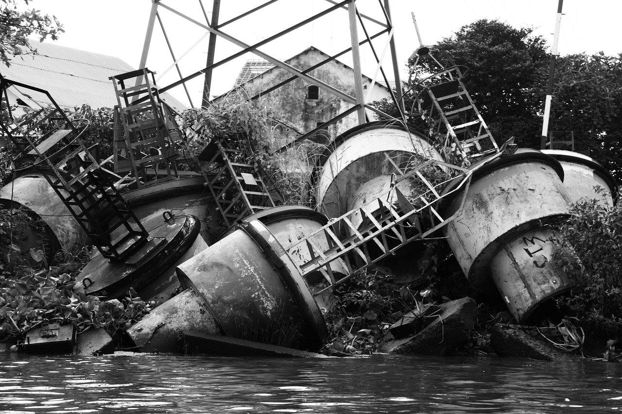 junk, metal pile, scrap