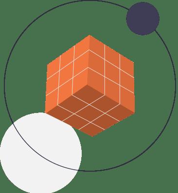 элемент сайта куб